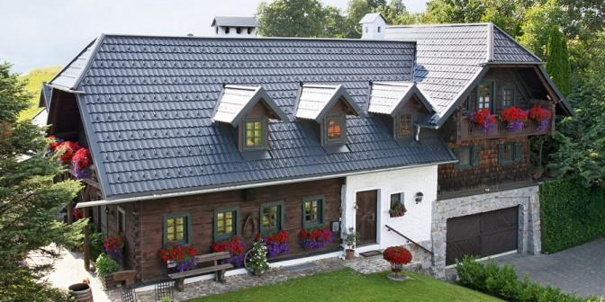 Tetto di metallo TWINTILE - non riconoscibile come tetto in metallo